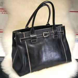 Kenneth Cole New York Black Leather Handbag Purse